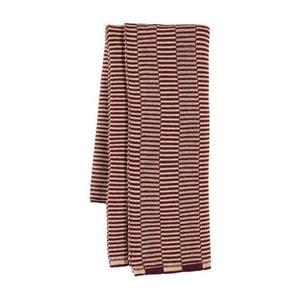 Růžová kuchyňská utěrka z organické bavlny OYOY Stringa