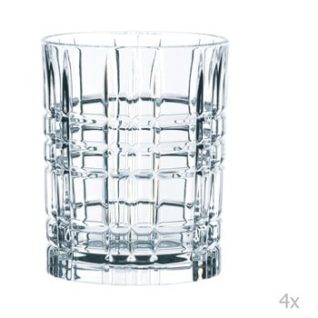 Set 4 pahare pentru whiskey din cristal Nachtmann Square Whiskey Set, 345 ml de la Nachtmann