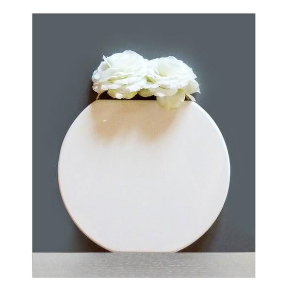 Nástěnná váza Vanity Round White