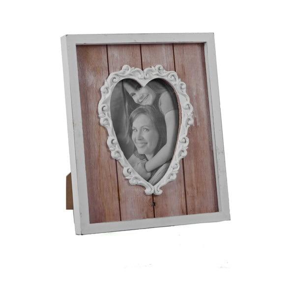 Szív alakú fa képkeret, 24 x 29,5 cm - Ego Dekor