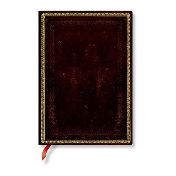 Agendă liniată, cu copertă moale Paperblanks Moroccan, 176 file, maro