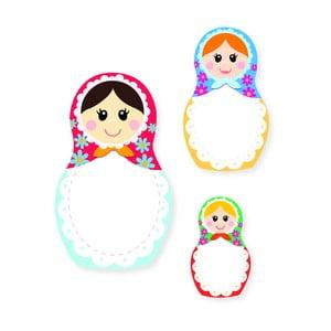 Sada poznámkových bločků Thinking gifts Nesting Dolls