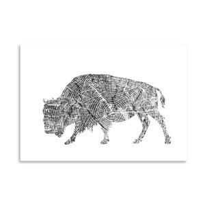 Poster Americanflat Buffalo, 30 x 42 cm