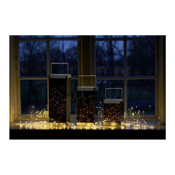 Lucerna s LED světýlky Villa Collection Quadro, 30 cm