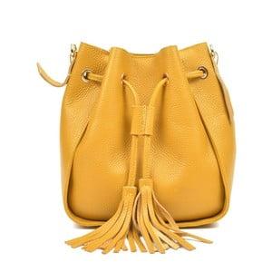 Žlutá kožená kabelka Carla Ferreri Jessie