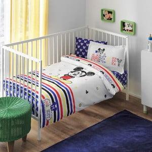 Lenjerie de pat cu cearșaf  Mickey Mouse, 100x150 cm
