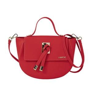 Červená kožená kabelka Lampoo Kucca