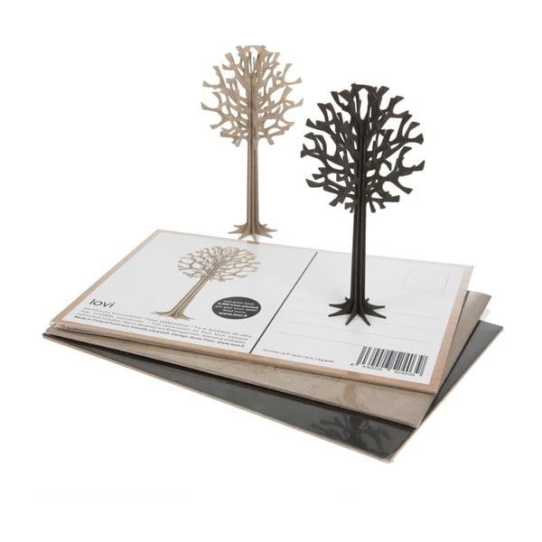 Skládací pohlednice Lovi Tree Black, 13.5 cm