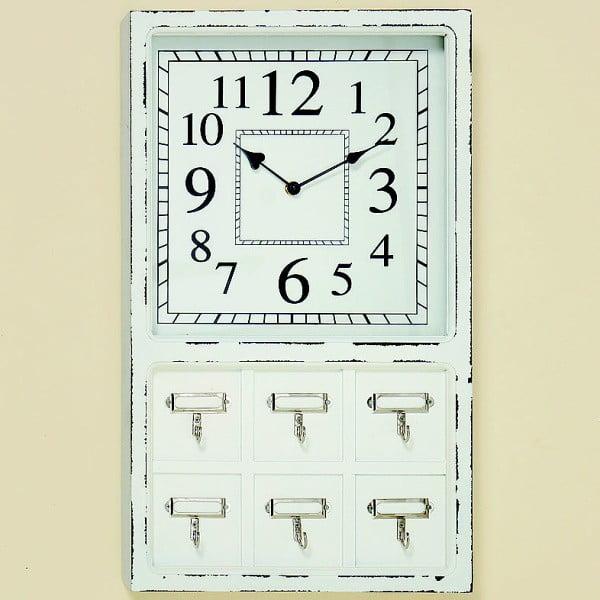 Nástěnné hodiny s háčky Lorcano