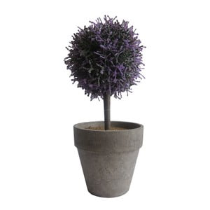 Fialový umělý stromek Stardeco, 27 cm