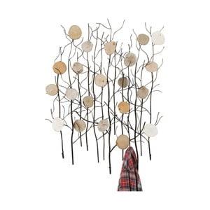 Nástěnný věšák z jasanového dřeva Kare Autumn Shrubs