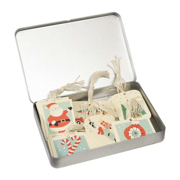 Set 36 etichete cadou în cutie metalică Rex London