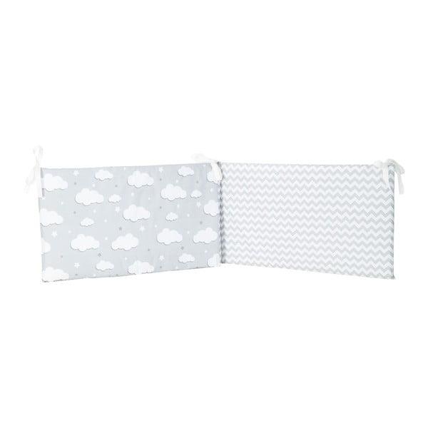 Protecție din bumbac pentru patul copiilor Apolena Carino, 40 x 210 cm, albastru gri