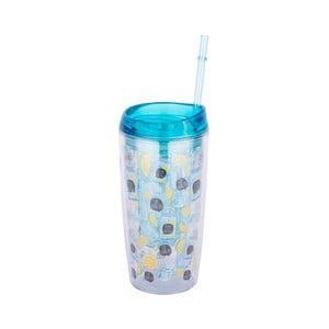 Modrý tumbler na nápoje Tantitoni Infuser, 450 ml