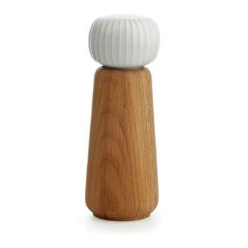 Râșniță din lemn pentru sare/piper Kähler Design Hammershoi, mare, alb imagine