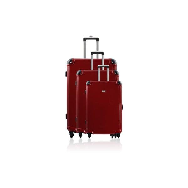 Sada 3 cestovních zavazadel Cadenas Red