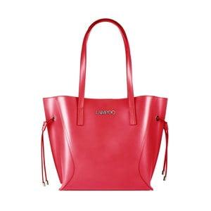 Červená kožená kabelka Lampoo Missia