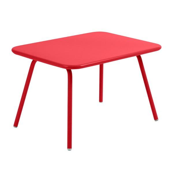 Sytě červený dětský stůl Fermob Luxembourg