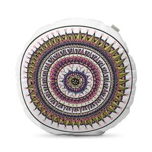 Béžový polštář HF Living Mandala, ⌀50cm