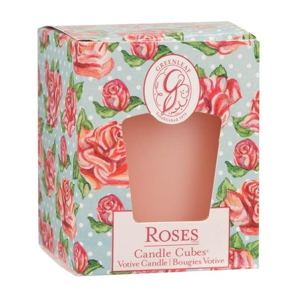 Svíčka s vůní růže Greenleaf Roses, doba hoření 15 hodin