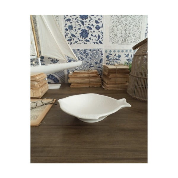 Sada 6 bílých keramických talířů Orchidea Milano Fishy