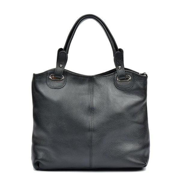 Černá kožená kabelka Luisa Vannini Aida
