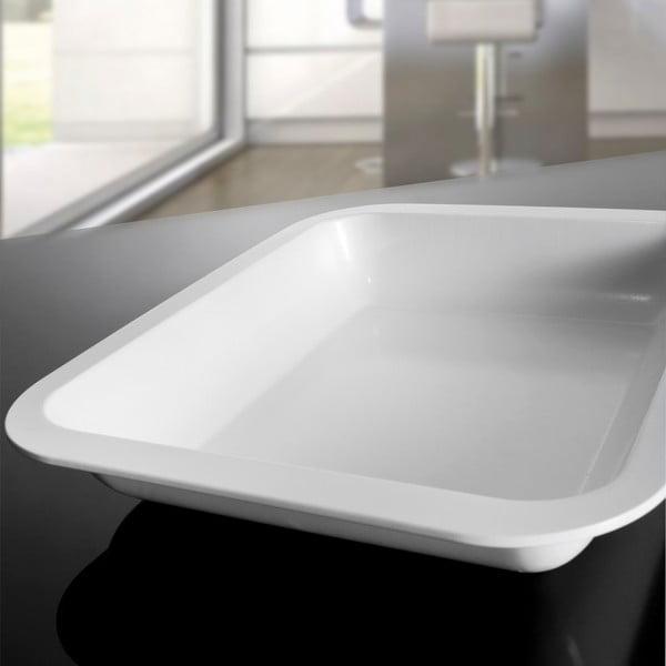 Forma na pečení, 38x30,5x5,5 cm, bílá