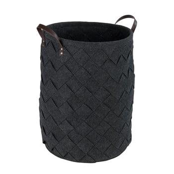 Coș pentru rufe Wenko Trovo, negru, 75 l poza