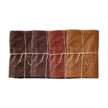 Set 4 șervețele textile Linen Couture Red Gradient, lățime 40 cm imagine
