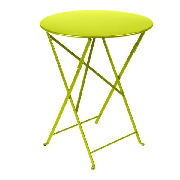 Limetkově zelený skládací kovový stůl Fermob Bistro
