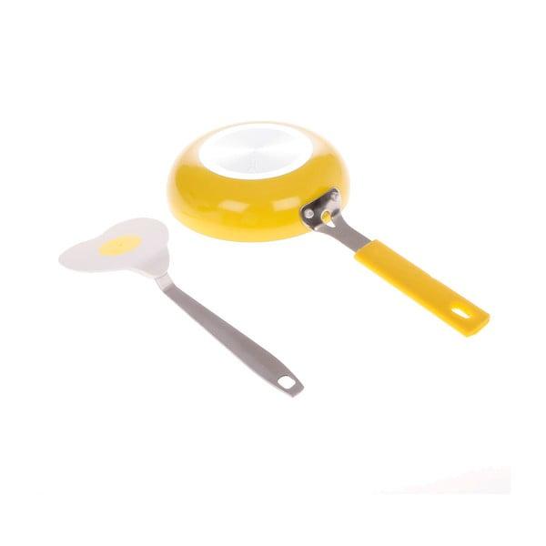 Pánvička s obracečkou, žlutá