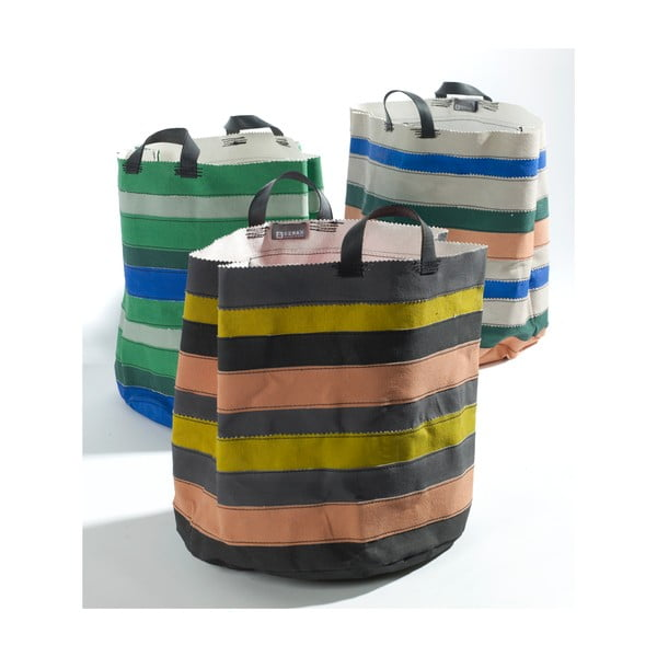 Sada 3 plátěných košíků Marie Lines, 34 cm