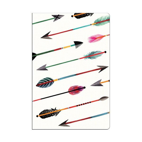 Mini zápisníky Galison Mudpuppy Arrows & Feathers, 2ks