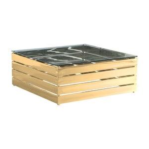 Konferenční stolek ve zlaté barvě Artelore Gehry