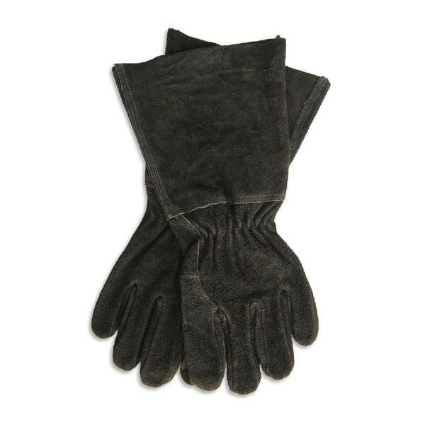 Gaunlet Black fekete szarvasbőr kesztyű, hosszúság 38,5 cm - Garden Trading
