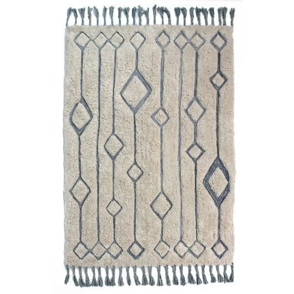 Béžovo-modrý ručně tkaný koberec Flair Rugs Solitaire Sion, 200x290cm