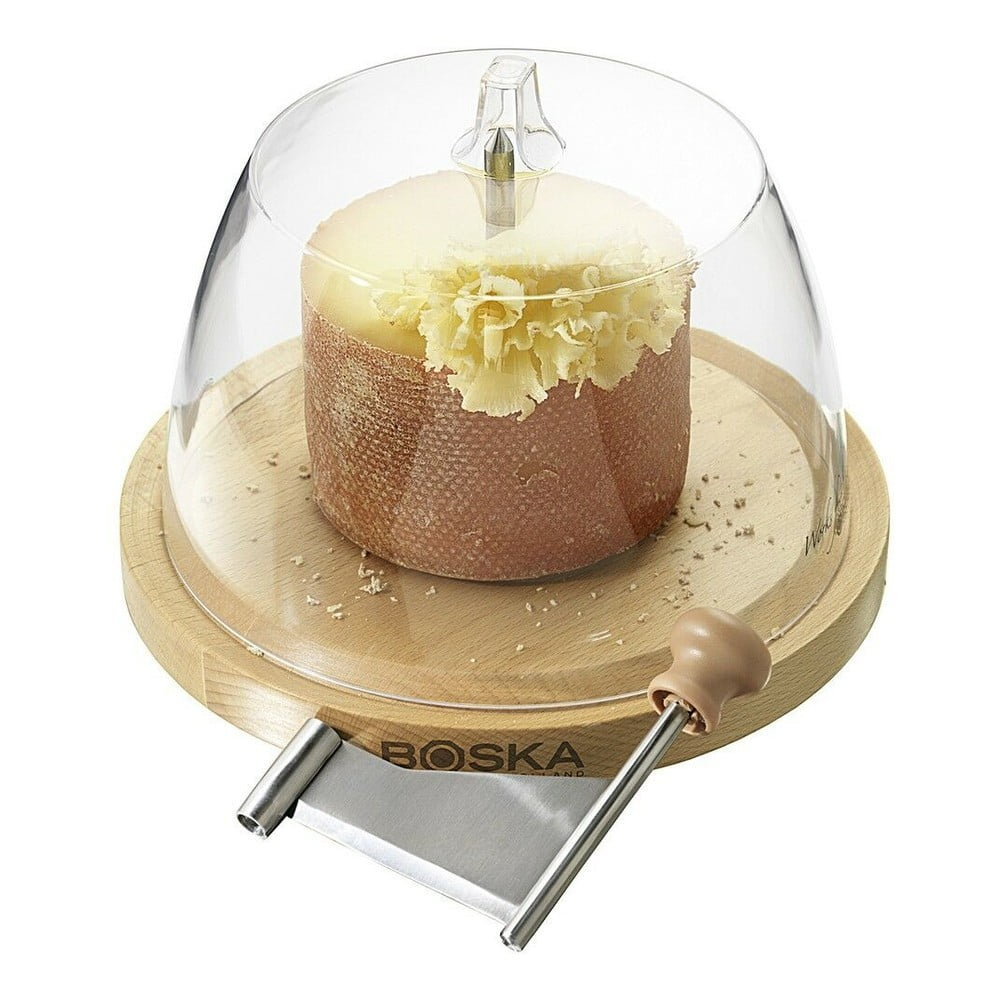 Servírovací prkénko s poklopem a čepelí na strouhání sýra Boska Cheese Curler Amigo With Dome