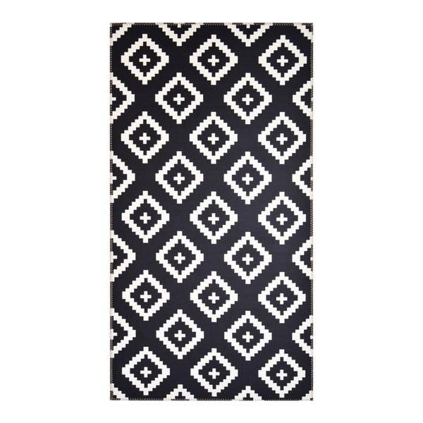 Czarno-biały dywan Vitaus Geo Winston,50x80cm