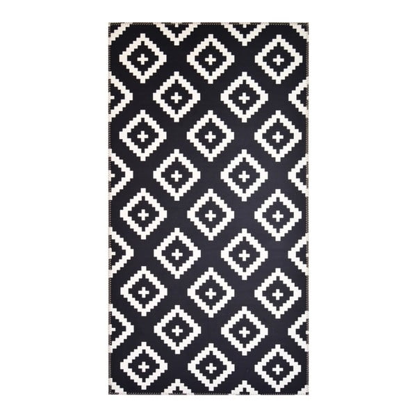 Černobílý koberec Vitaus Geo Winston,50x80cm