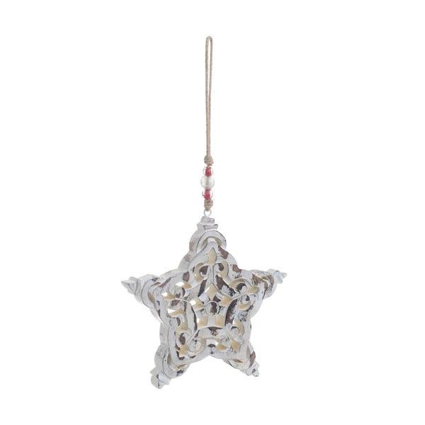 Vánoční dřevěná závěsná dekorace ve tvaru hvězdy InArt Celina