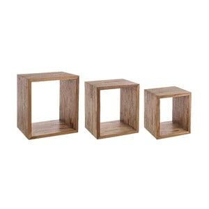 Set 3 rafturi din lemn reciclat Bizzotto Alvin