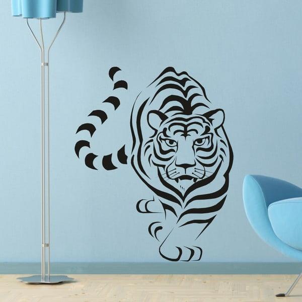 Samolepka na stěnu Wallvinil Tygr, černá