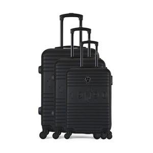 Sada 3 černých cestovních kufrů na kolečkách GENTLEMAN FARMER Cadenas Integre Duro