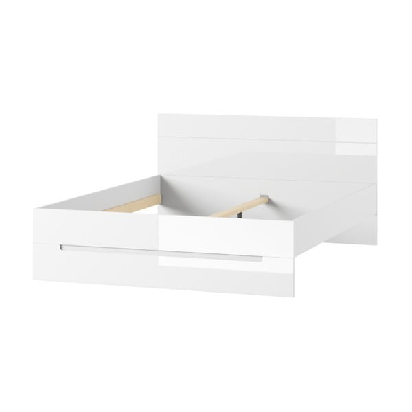 Bílá postel Szynaka Meble Selene, 160 cm