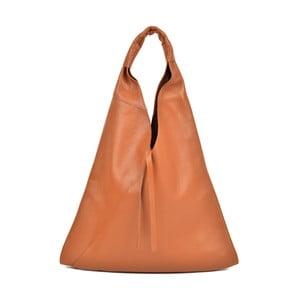 Koňakově hnědá kožená kabelka AnnaLuchini Alice