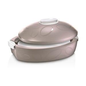 Cutie termică ovală cu vas de coacere Enjoy Gourmet, 3 l, maro