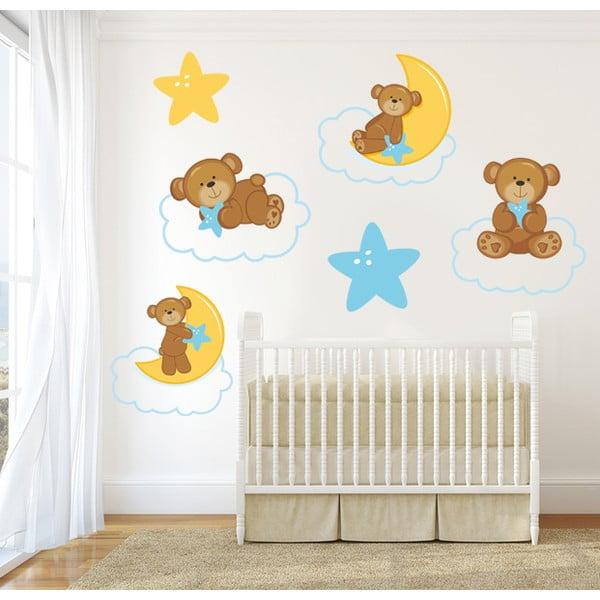 Samolepka na stěnu Medvídci na obláčku, 50x70 cm
