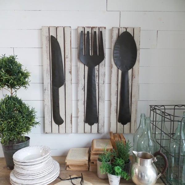 Sada 3 nástěnných dekorací Country Kitchen