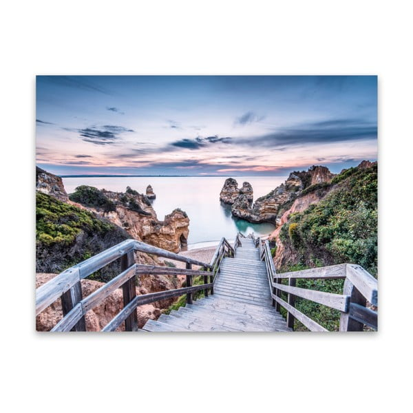 Canvas Praia fali kép, 85 x 113 cm - Styler