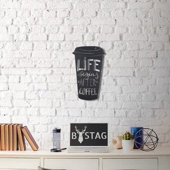 Decorațiune din metal pentru perete Coffee, 50 x 30 cm